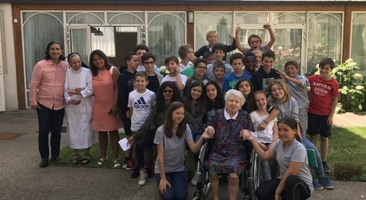 Rencontre à la maison des Augustines avec Mme Jaquetel. 6C