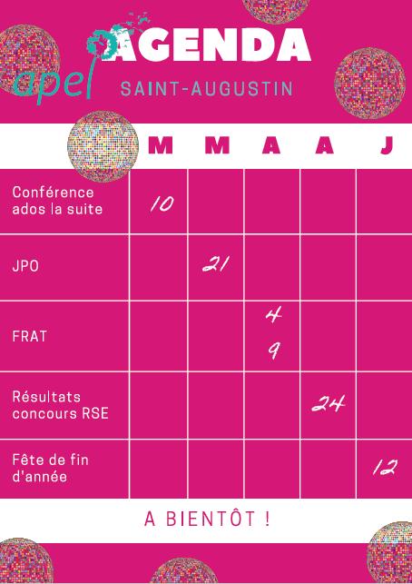 Agenda Saint Augustin